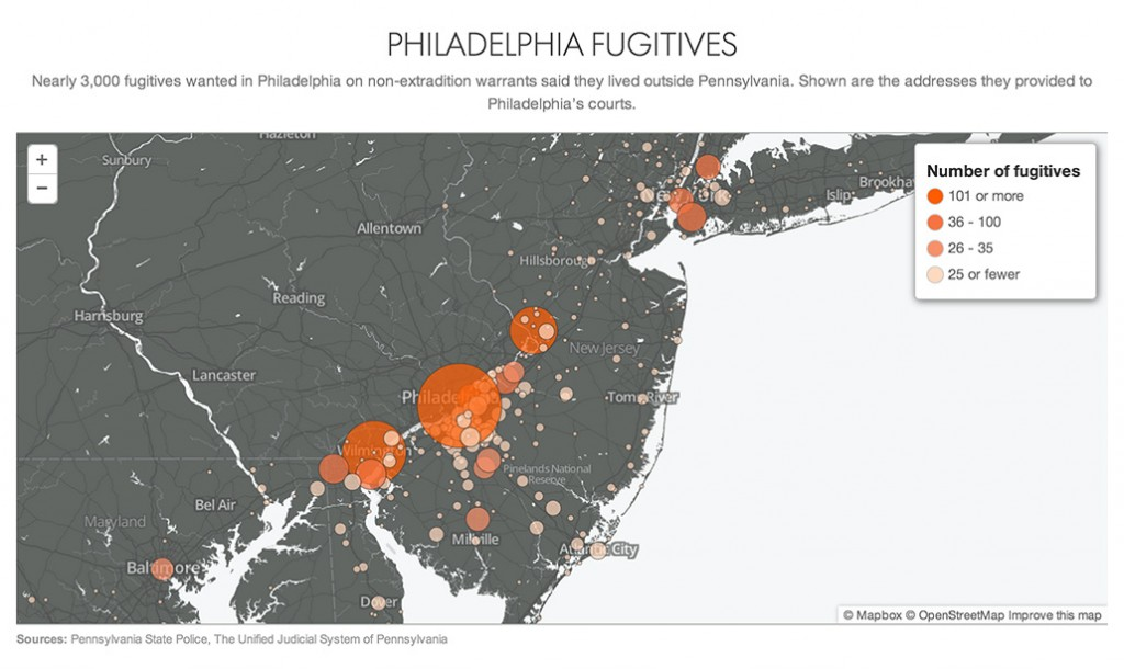 warrants philly map